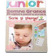 Semne si grafice. Pregatire pentru scriere. Scrie si sterge (Junior 3-5 ani)