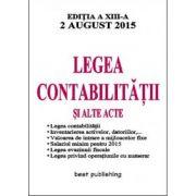 Legea contabilitatii si alte acte (2 august 2015)