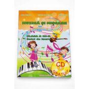 Muzica si miscare caiet de lucru pentru clasa a III-a (CD)