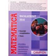 Matematica Bacalaureat 2016, filiera teoretica, specializarea Matematica-Informatica. Exercitii recapitulative. Teste