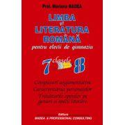 Limba si literatura romana pentru elevii de gimnaziu, clasele 7-8 (Mariana Badea)