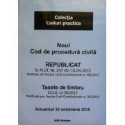 Noul Cod de procedura civila republicat (M. Of. Nr. 247 din 10.04.2015)