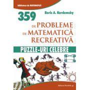 359 probleme de Matematica Recreativa - Puzzle-uri Celebre