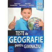 Teste de geografie pentru gimnaziu, clasa a V-a