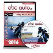 CD, Software pentru obtinerea permisului de conducere, ABC Auto v.3.0 - Categoriile AM, A1, A2, A - Actualizat 2016