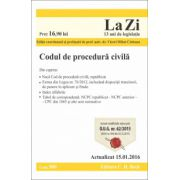 Codul de procedura civila. Actualizat la 15.01.2016