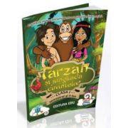 Tarzan si jungliada cuvintelor. Activitati de invatare distractiva pentru comunicare in limba romana - Carte si CD