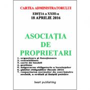 Asociatia de proprietari editia a XXIII-a - 18 aprilie 2016