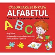 Coloreaza si invata Alfabetul. Carte de colorat pentru perioada alfabetara