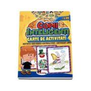 Jocuri pentru copii inteligenti, 6 ani. Carte de activitati - Uneste punctele, gaseste diferentele, alege perechile potrivite, cuvinte incrucisate, labirinturi