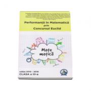 Auxiliar pentru clasa a 3-a - Cristina-Lavinia Savu. Performanta in Matematica prin Concursul National Euclid (editia 2015-2016)