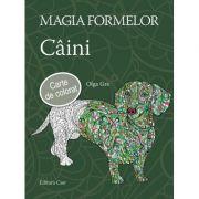 Magia formelor. Caini, carte de colorat pentru adulti