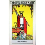 Tarotul Rider Waite. Include o brosura cu instructiuni si setul complet de 78 de carti de joc color (22 din Arcana Mare si 56 din Arcana Mica)