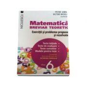 Matematica clasa a VI-a. Breviar teoretic cu exercitii si probleme propuse si rezolvate. Teste initiale. Teste de evaluare. Teste sumative. Modele pentru teze - Petre Simion (Editie 2016)