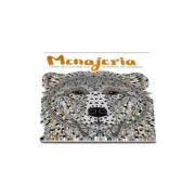 Menajeria - Carte de colorat cu portrete de animale