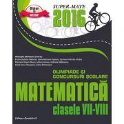 Olimpiade si concursuri scolare matematica 2016 - clasele VII-VIII