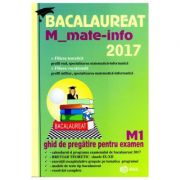 Bacalaureat matematica 2017 - M Mate-info M1 - Mihai Baluna