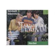 Tangram 2B. 3 CDs Kursbuch und Arbeitsbuch - Hortexte, Sprechubungen und ubungen zur Phonetik