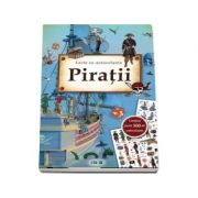 Carte cu autocolante - Piratii - Contine peste 500 de autocolante