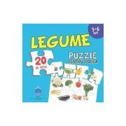 Legume - Puzzle pentru podea cu 20 de piese (3-6 ani)