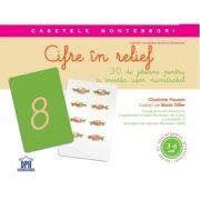 Cifre in relief - 30 de jetoane pentru a invata usor numarul (Caseta Montessori)