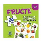 Fructe - Puzzle pentru podea cu 20 de piese (3-6 ani)