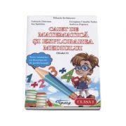Caiet de matematica si explorarea mediului, clasa I - Teste sumative cu descriptori de performanta - Model I (Mihaela Serbanescu)