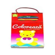 Coloreaza si invata culorile! Numarul 3 (Contine 4 creioane colorate)
