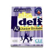 ABC - DELF - Niveau A2. Junior scolaire - Livre si cederom. 200 exercices - DVD - rom audio et video inclus