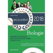Bacalaureat 2018 Biologie. Anatomie si fiziologie, genetica si ecologie umana. Clasele XI-XII. 45 de teste dupa modelul M. E. N. cu bareme de evaluare si notare