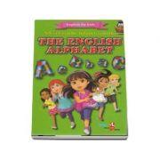 English for kids - The english alphabet (Contine 32 cartonase cu imagini color)
