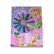 Coloreaza zane - Carte de colorat cu creioane