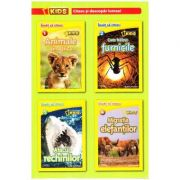 Set 4 volume National Geographic Kids - Citesc si descopar lumea!