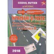 Intrebari si teste pentru obtinerea permisului de conducere auto Categoria B (2018)