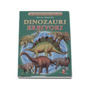 Sa cunoastem lumea impreuna! Dinozauri erbivori (Set 16 cartonase cu imagini color si texte informatice)