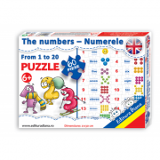 Puzzle - The numbers from 1 to 20 - Contine 60 piese