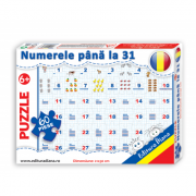 Puzzle - Numerele pana la 31 - Contine 60 piese