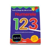 Scrie si sterge de cate ori vrei! Numerele 123. Joaca-te si invata sa scrii numerele!