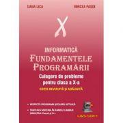 Informatica. Fundamentele Programarii, culegere de probleme pentru clasa a X-a - Dana Lica