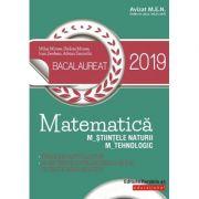 Matematică. Bacalaureat 2019. M_ştiinţele-naturii, M_tehnologic - Avizat MEN