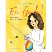 En garde - Fetița cu masca tricoloră