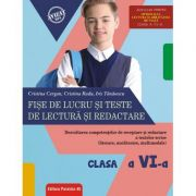 Fişe de lucru şi teste de lectură şi redactare. Clasa a VI-a - Cristina Cergan