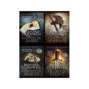 Pachet 4 volume Bernard Cornwell. Seria Ultimul Regat - Ultimul regat, Calaretul mortii, Stapanii nordului, Cantecul sabiei - Bernard Cornwell