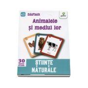 Animalele si mediul lor - Stiinte naturale (Contine 30 flashcarduri)