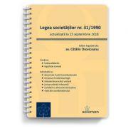 Legea societatilor nr. 31/1990 (actualizată la 15 septembrie 2018)