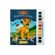 Sa pictam cu Kion - Carte de colorat cu pensula si acuarele