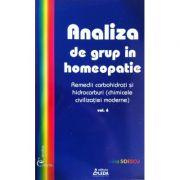Analiza de grup in homeopatie, volumul 6 - Remedii carbohidrati si hidrocarburi - Sorina Soescu