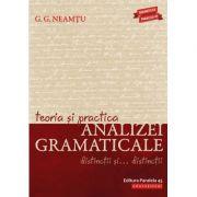 Teoria și practica analizei gramaticale. Distincții și distincții