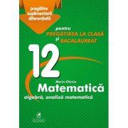 Culegere - algebra, analiza matematica – Clasa a XII-a – pentru pregatirea la clasa si bacalaureat