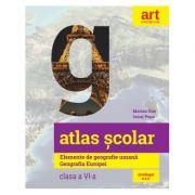 Atlas școlar. Elemente de geografie umană. Geografia Europei - Clasa a VI-a - Ionuț Popa, Marian Ene